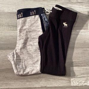 Abercrombie kids lot of 2 size 9/10 sweatpants